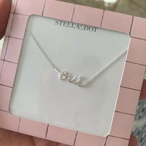 "Stella and Dot ""oui"" necklace"